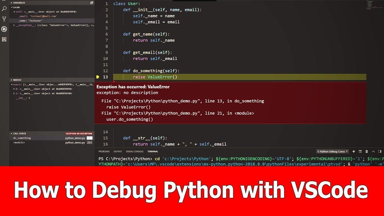 How to Debug Python with VSCode