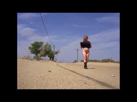 Latina naked in the desert