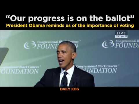"""""""Our progress is on the ballot"""" - President Obama"""