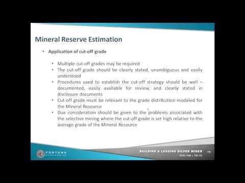 Mineral reserve estimation