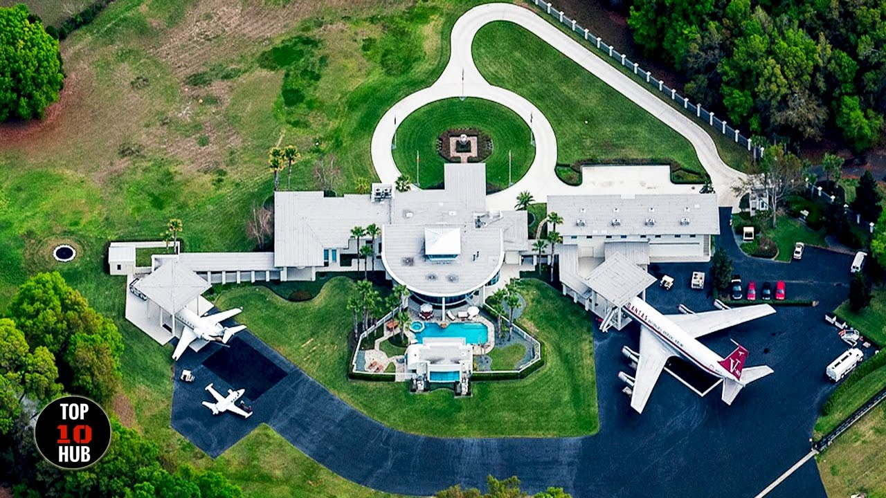 TOP 10 Most EXPENSIVE Celebrity Homes ◣❂◢