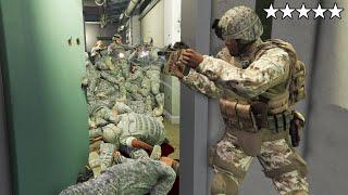 GTA 5 - ARMY Franklin VS Military Base! (FIVE STAR WAR)