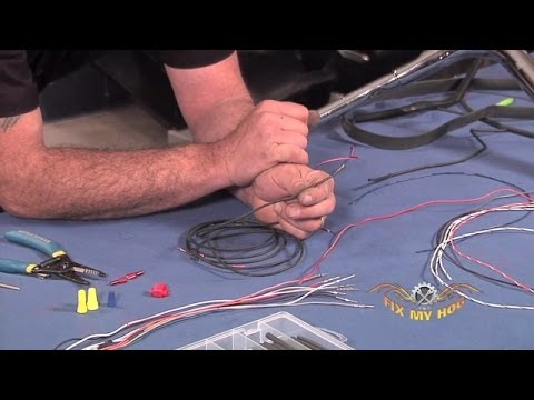 Tips on Extending Your Handlebar Wires | Fix My Hog Harley Davidson Handlebar Wiring Harness Extension on