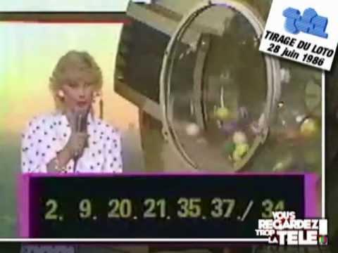 28 juin 1986 - Tirage du Loto + intervention Denise Fabre - TF1