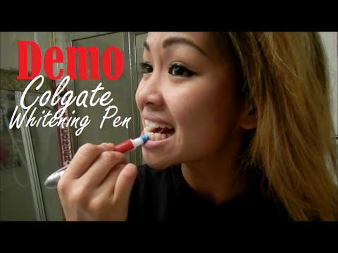 Colgate Optic White Toothbrush Built In Whitening Pen Demo