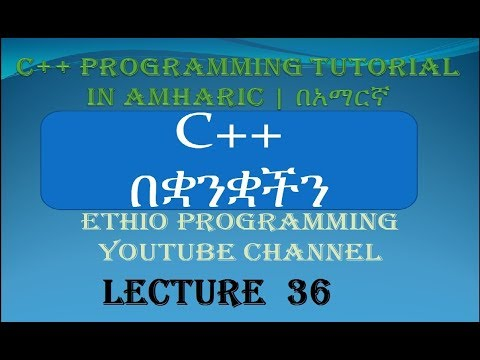 Lecture 36: C++ Programming Tutorial Function declaration, Prototype part 6 in Amharic | በአማርኛ