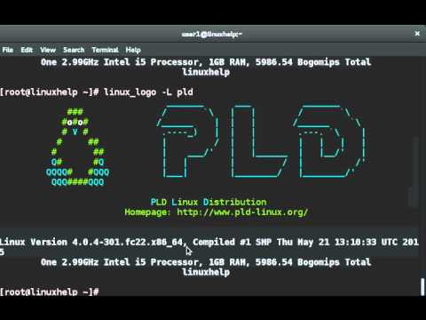 How To Print Color ANSI Logos Of Linux OS Using