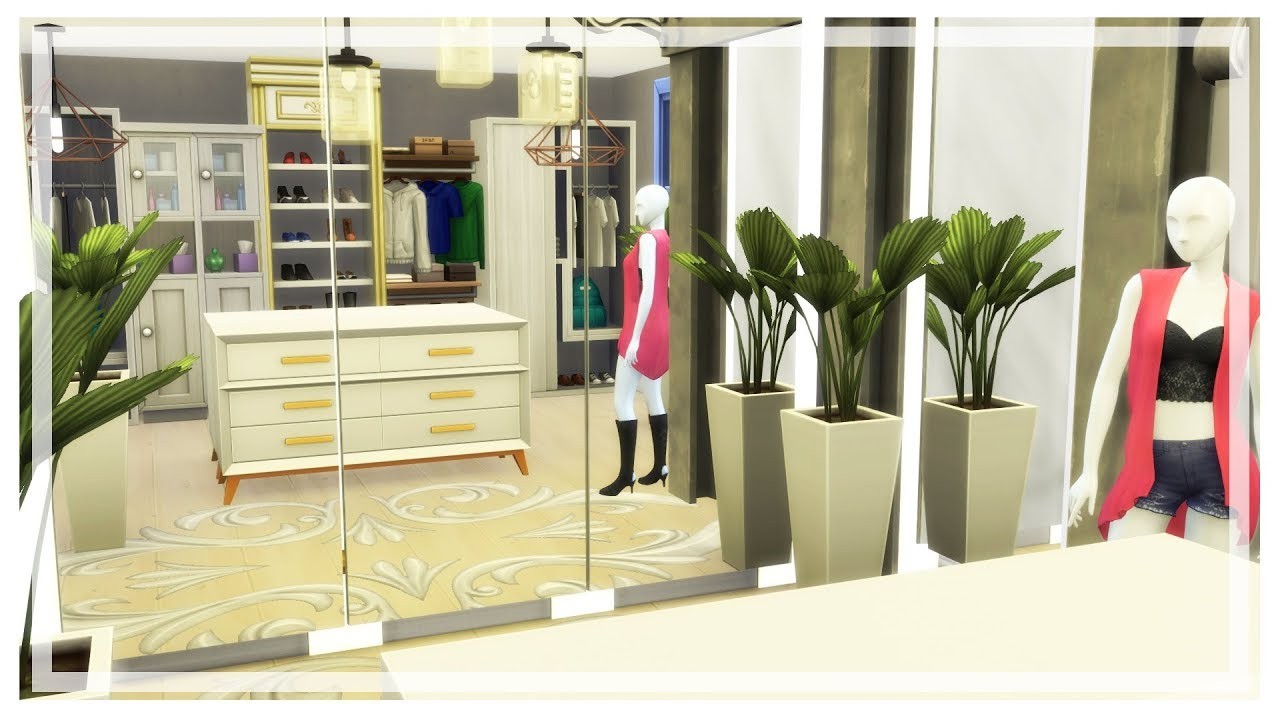 Walk In Closet The Sims 4 Room Build No Cc Youtube