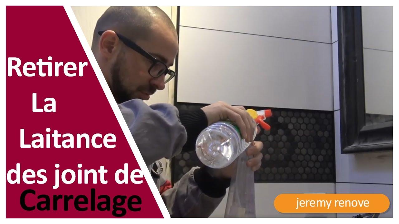 Joints De Carrelage Comment Nettoyer La Laitance Youtube