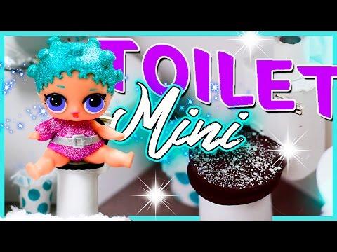DIY MINIATURE Toilet For LOL Dolls | Mini Bathroom Accessories