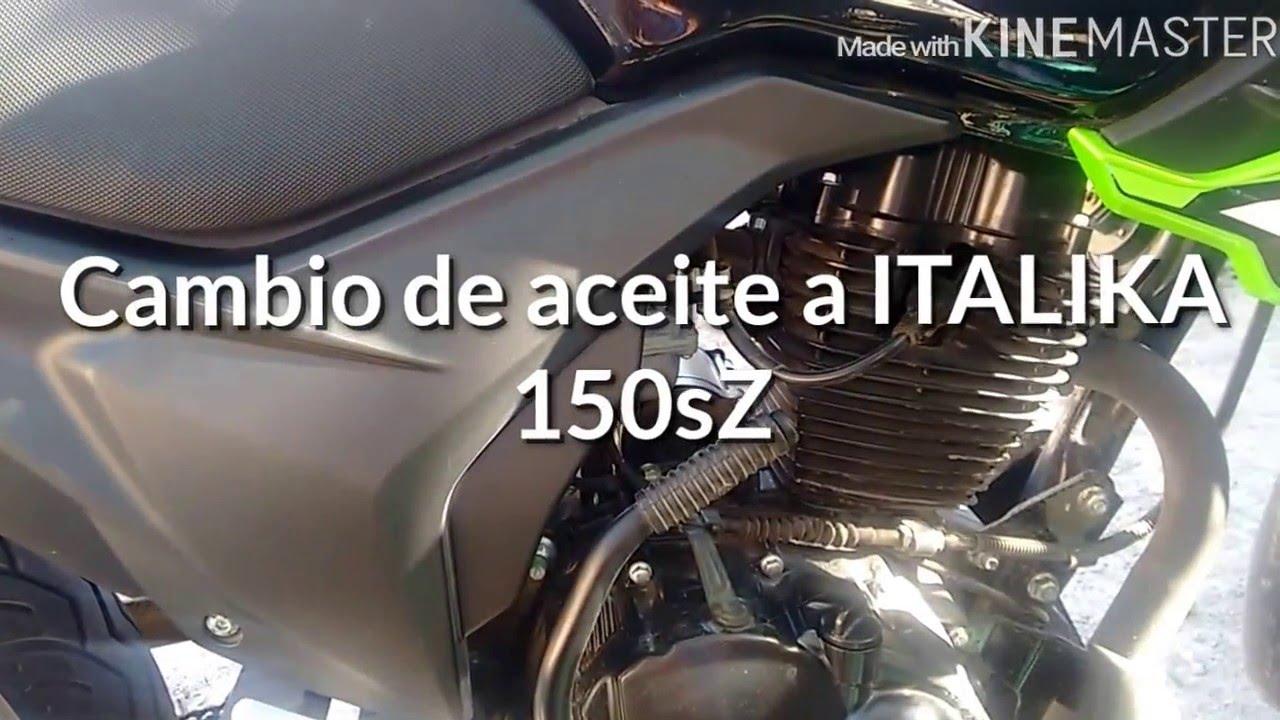 Que tipo de aceite lleva una moto italika 150