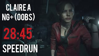 Resident Evil 2 Remake - Claire A NG+ (OoBs) - Speedrun [28:45] (World Record)