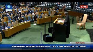 Climate Change Intensified Poverty Terrorism In West Africa, Buhari Tells UNGA
