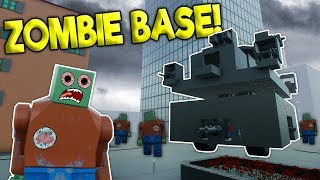 LEGO ZOMBIE BASE VS ZOMBIE ARMY! - Brick Rigs Roleplay Gameplay - Multiplayer Zombie Mode