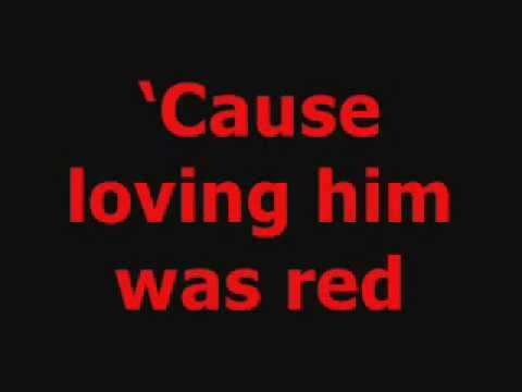 RED -Taylor Swift LYRIC/SING ALONG VIDEO!!!! (Words & Music) - YouTube