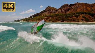 Windsurfing Diamond Head Oahu (4K HD)