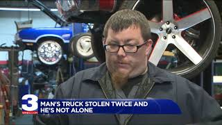 Man claims he had two Chevy trucks stolen within months