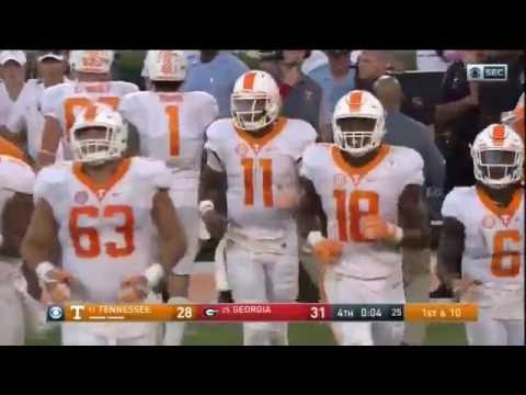 Tennessee Hail Mary vs. Georgia (2016) - CBS, Tennessee and