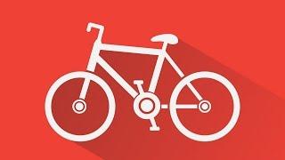 Процесс рисования иконки велосипеда в Adobe Illustrator