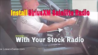 How to install SiriusXM into your factory stock radio