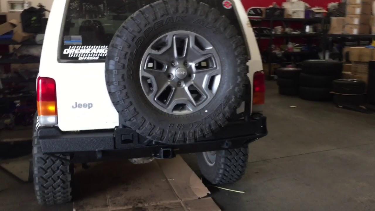 Jeep Xj Rear Bumper And Tire Carrier Install Smittybilt ...