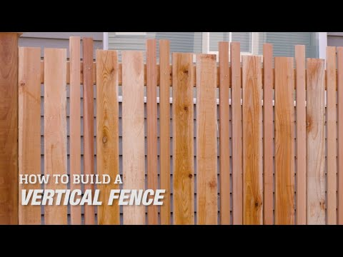 How to Build a DIY Vertical Fence