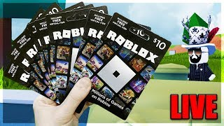 🔴 I Spent $100 on ROBUX CODES... (Robux Codes Giveaway) | LIVE Roblox Jailbreak New Update Hype