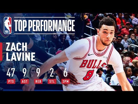 Zach LaVine Records A New Career-High 47 Points | March 1, 2019 thumbnail