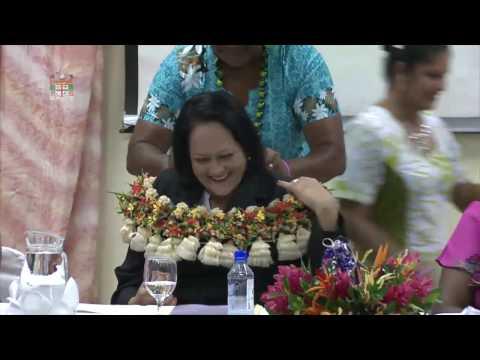 Fijian Minister officiates the Fiji Nurse Association 60th Annual General Meeting.