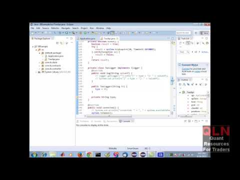 Download Java with video demo for Interactive Brokers API