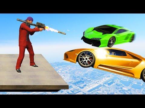 SHOOT THE CARS AT 300MPH! (GTA 5 Funny Moments)