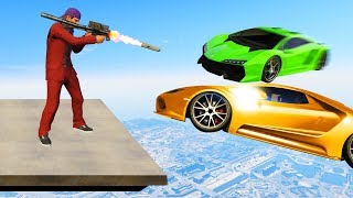 SHOOT THE CARS AT 300MPH! (GTA 5 Funny Moments)