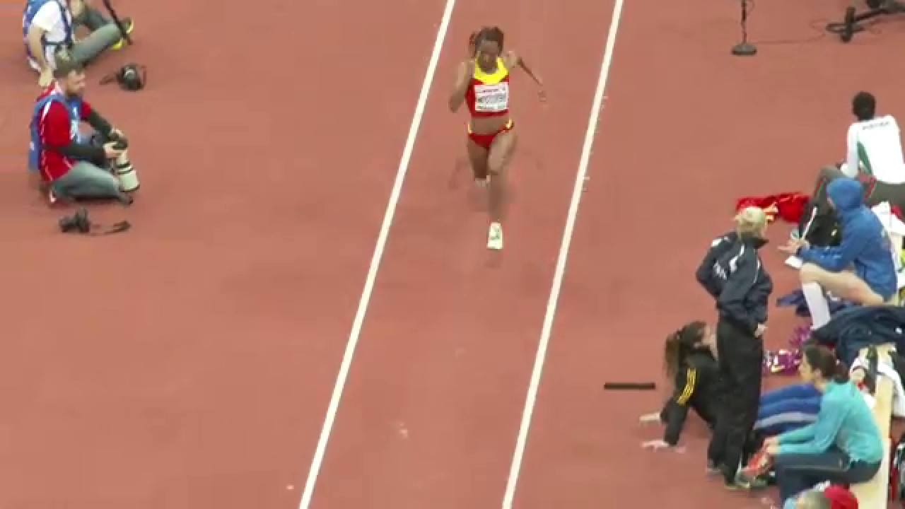 oops! moment of a female triple jumper, nuth ndoumbe - youtube