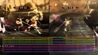 Bayonetta Gameplay 360/PS3 Frame-Rate Comparison