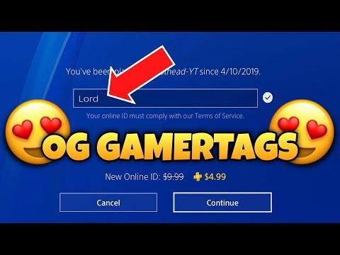 *OG PS4 GAMERTAGS* not taken 😍 Part 3