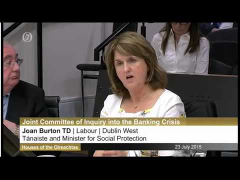 Joan Burton Pat Rabbitte Banking Inquiry