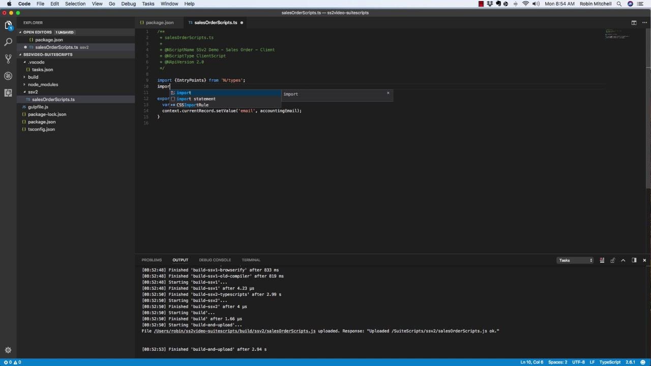NetSuite SuiteScript 2 0 Intro