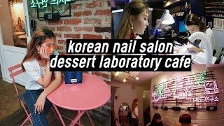 aesthetic neon korean cafe tropical nail salon