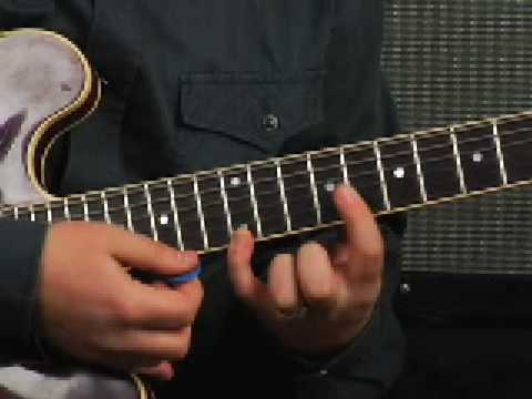 Lead guitar lesson jazz blues licks using Blues scales learn to solo jam and improv