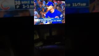 Final out of 2016 MLB World Series