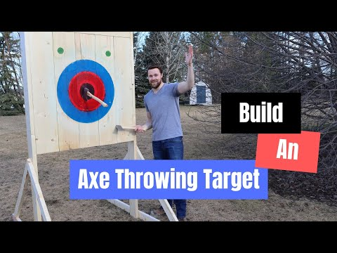 Building An Axe Throwing Target | Time Lapse | NATF Specifications | Axe Throwing