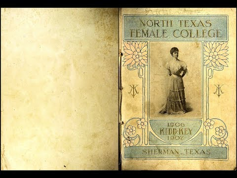 1906 North Texas Female College yearbook