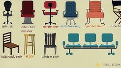 English for Kids - Chairs Vocabulary | Learn Names of Chairs for Kids