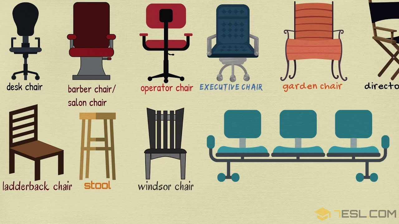 List Of Chair Styles: Different Types Of Chairs In English