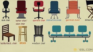 List of Chair Styles: Different Types of Chairs in English with Names and Pictures