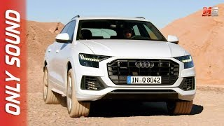 New audi Q8 2018 - first test drive off road only sound