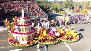Easterseals float at the 130th Tournament of Roses Parade on New Year's Day in Pasadena, California