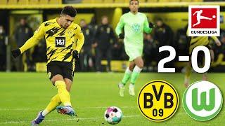 Sancho Goal in Haaland Comeback Dortmund Wolfsburg 2 0 Highlights Matchday 14 Bundesliga