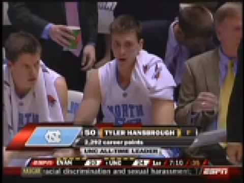 Tyler Hansbrough North Carolina's new all time leading ...