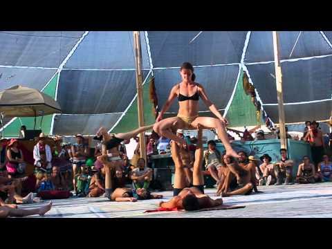 2014 Burning Man Acro Yoga Center Camp